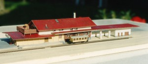 """Bahnhof """"Bergün"""", Bahnseite"""
